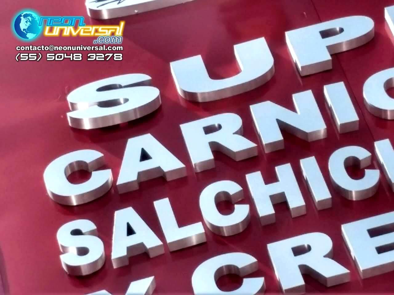 Letreros de aluminio Spec y acero inoxidable (23)